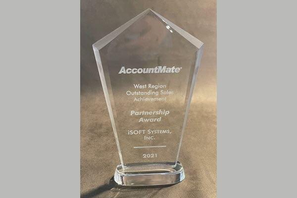 iSOFT Receives AccountMate Partnership Award